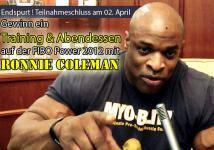 Endspurt: Gewinn ein Training und Abendessen mit Ronnie Coleman