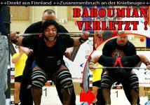 Patrik Baboumian verletzt - Zusammenbruch bei Kniebeuge