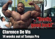 Clarence de Vis 14 weeks out of Tampa Pro